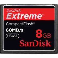 extreme compactflash card 8gb